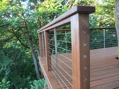 If I had to do I it again, I'd sink those end points on my cedar deck with cable railings.