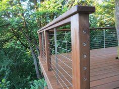 If I had to do I it again, I'd sink those end points on my cedar deck with cable railings.
