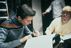 wil wheaton young | Wheaton during an on-set tutoring session during TNG Season 1
