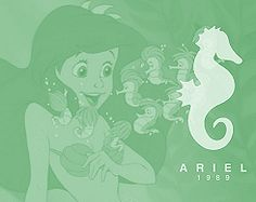 Ariel. AND A SEAHORSE!! Two of my most favorite things!!