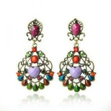 Wholesale Antique Bronze-plated Multi Colored Earring  $4.89
