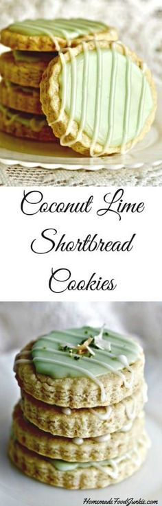 Looking for a tea party cookie for a special event? Coconut Lime Shortbread Cookies can be dressed up pretty like this or eaten any ole way. They pack up great for gifting and potlucks too .
