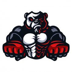Mma Panda Vectors, Photos and PSD files Shirt Logo Design, Logo Desing, Game Logo Design, Fantasy Football Logos, Mascot Design, Logo Sticker, Photo Logo, Bulldog Tattoo, Cool Logo