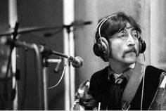 John Lennon Recording Session For Sgt. Peppers Lonely Hearts Club Band.