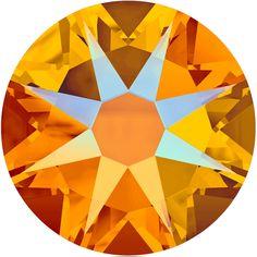 6b7057120 Swarovski 2088 XIRIUS Rose Flat Back Tangerine Shimmer SS20. Swarovski Nail  CrystalsCrystal ...