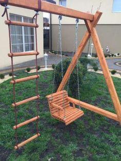 Backyard Swing Sets, Backyard For Kids, Backyard Projects, Outdoor Projects, Porch Swing, Outside Playground, Backyard Playground, Kids Yard, Kids Play Spaces