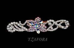 """Poinsettia""   - Swarovski ballroom bracelet, each one handmade in Canada. Ballroom jewelry, ballroom dancesport accessories. www.tzafora.com Copyright © 2014 Tzafora"