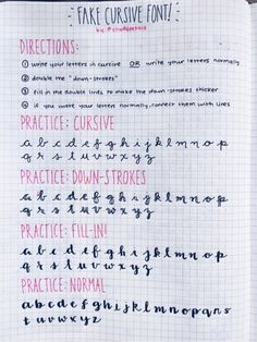 Bujo fake cursive font practice/how-to - studypetals Planner Bullet Journal, Bullet Journal Notes, Bullet Journal Ideas Pages, Bullet Journal Inspiration, Journal Pages, Bullet Journal Cursive, Bullet Journal Fonts Hand Lettering, Bullet Journal Front Page, Schrift Design