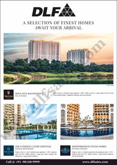 A different type of luxury residential projects developed by one of the best organizations in Real Estate developers dlf india in the different locations of gurgaon. Some of the main projects of different property status are dlf mid town , dlf capital greens in moti nagar delhi, dlf ultima, dlf the crest, dlf garden city etc all are in gurgaon location. Real Estate Development, Mediterranean Style, Luxury Apartments, Luxurious Bedrooms, Organizations, Luxury Lifestyle, India, Type, City
