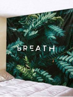 Plant Leaves Letters Print Wall Art Tapestry – Best Garden Plants And Planting Tapestry Bedroom, Tapestry Wall Hanging, Wall Hangings, Inspire Me Home Decor, Leaf Prints, Wall Art Prints, Home Wall Decor, Room Decor, Blanket On Wall