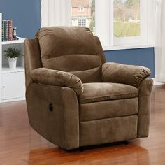 AC Pacific Felix Fabric Transitional Electric Power Recliner Upholstery: