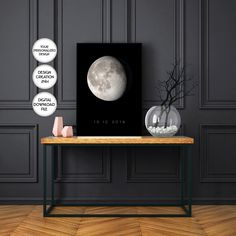 Personalized Moon Maps Printabl,Phases of the Moon Map,Special dates,Editable couples sign,Wedding gift for couple,Wedding gift personalized Wedding Gifts For Couples, Personalized Wedding Gifts, Map Wall Art, Map Art, Moon Map, Wedding Signs, Map Wedding, Custom Map, Couple Gifts