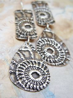 BOHO Jewelry, Cool Sterling Silver Handmade Earrings by HappyGoLicky.