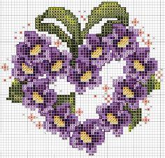 Punto croce fiori | Punti e Spunti ♥ Uncinetto e ricamo facile
