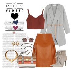 """""""Untitled #441"""" by vasso960 ❤ liked on Polyvore featuring Vanessa Bruno, Givenchy, FOSSIL, Oliver Peoples, Hera and Zimmermann"""