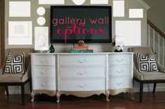 Burlap & Lace: Making your TV Blend in with a Gallery Wall