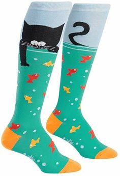 108b5dff37c TeeHee Novelty Cotton Knee High Fun Socks 5-Pack for Women (Skull ...