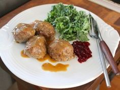 Super-Sized Swedish Meatballs with Toasted Caraway Gravy : Recipes : Cooking Channel