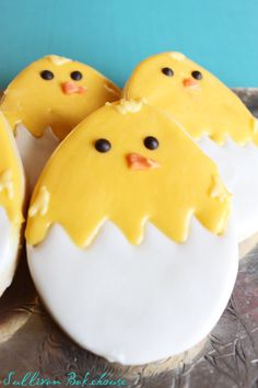 Easter  Baby Chick Cookies by SullivanBakehouse on Etsy, $20.00