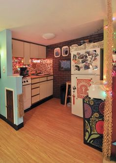 She has about as much light as my kitchen will have - great use of fairy lights