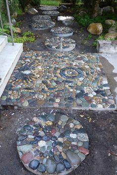 Pebble Mosaics • Gardens by Jeffrey Bale
