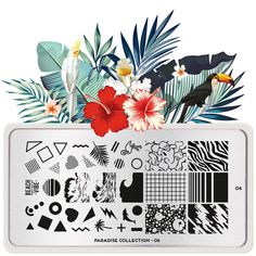 Paradise 06 | MoYou London Modern Tropical, Tropical Design, Tropical Vibes, Stamping Nail Polish, Nail Stamping Plates, Nail Stamper, Image Plate, Tribal Patterns, Beautiful Nail Art