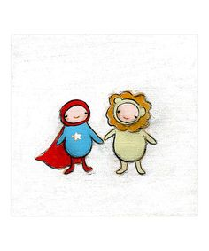 Take a look at this The Superhero & The Lion Print by Creative Thursday on #zulily today!