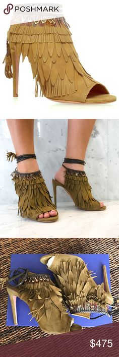 Aquazzura Pocahontas Sandals Size 38 Only worn once, great condition will ship with original box. Color is cardamom and European size 38.  Fits true size. Happy Poshing 🎀 Aquazzura Shoes Lace Up Boots