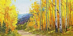 SPRING SALE f. ARTIST STUDIO GALLERY ORIGINAL OIL PAINTING ASPEN TREE GARY KIM #Impressionism