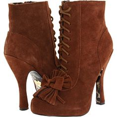 Betsey Johnson Terrii Brown Suede - 6pm.com