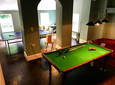 The games room at Beaconside House wedding venue in Devon
