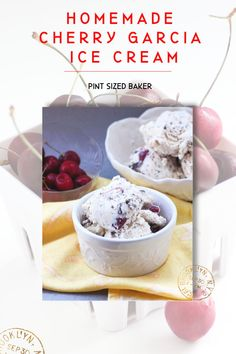 "Get yourself an ice cream maker and make your own Cherry Garcia Ice Cream. Real, churned ice cream tastes way better than that other ""no churn"" kind. Then mix in fresh, sweet cherries and chocolate chunks for some the best ice cream all summer long! Great Desserts, Best Dessert Recipes, Frozen Desserts, Frozen Treats, Delicious Desserts, Pie Recipes, Ice Cream Pies, Ice Cream Party, Ice Cream Maker"