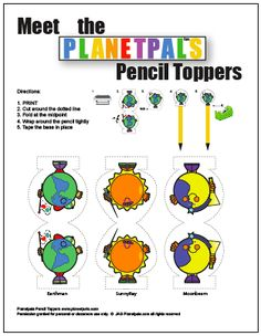 Planetpals Pencil Toppers Are Tops For Green Kids!