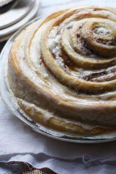 "Gooey Cinnamon Roll ""Cake""- Ooey Gooey Delicious-ness! via The Baker Chick"