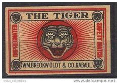 tiger japanese matchbox