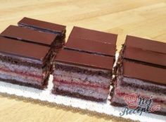Pralinkové řezy Desert Recipes, Nutella, Tiramisu, Cupcake Cakes, Ale, Sweet Tooth, Food And Drink, Sweets, Candy