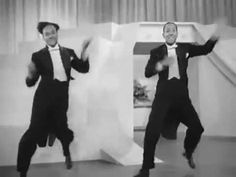 "Pharrell's ""Happy"" - YouTube created by Terry Stubbs.  (his notes on YouTube:  ""This is my take on Pharrell's ""Happy."" I reached all the way back to 1943 Harlem and put the World Famous Nicholas Brother's tap dance routine to this modern classic song."").   I don't know Mr Stubbs, but thank him for making me smile watching this!"