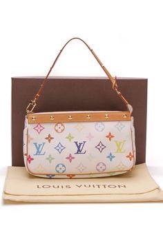 209594a61c51a Louis Vuitton Pochette Accessories Pouch Bag - White Multicolore Louis  Vuitton Handbags