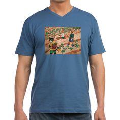 Summer Harvest Men's V-Neck T-Shirt  #awesome #CafePress #cats #draw #catlovers #catlife #catlady #cool #goodvibesonly #fun #funny #funnypics #funnycats #crazycatlady #art #toons #cartoonart #cartoon #catart #buyart #buy #buyable #onlineshopping #cutecats #cutepetclub #kitty #kittycat #kittens #animals #acryliccats #catsandme #cuteanimals #katzen #gatos #chat #gatti #neko #giftsforher #warm #warmweather #garden #gardentools #greenery #green #vegetable #gardening #vegetables #healthy #organic