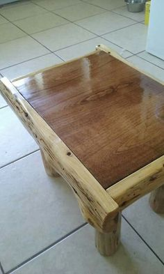 Cedar log foot stool- www.facebook.com/philswildwoodcreations