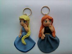 Lembrancinha Elsa e Anna Frozen Chaveirinho