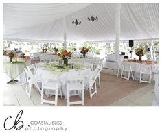 Orange and Green Summer Tent Wedding Hammock Beach Resort | Palm Coast, FL