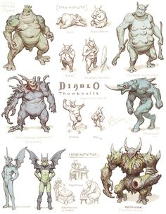 Diablo fan art and redesigns by Arne Niklas Jansson Game Character, Character Concept, Concept Art, Android Art, Mythical Creatures Art, Alien Design, Alien Races, Character Design Inspiration, Art Inspo