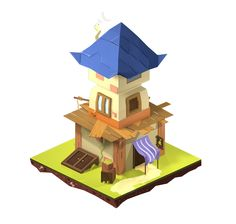 Tiny Buildings by Marcelo Bastos, via Behance