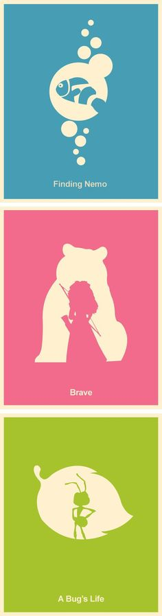 Ask your kiddos if they recognize these characters! - Pixar Minimalist Poster Set  #minimalism