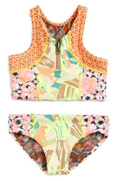 Free shipping and returns on Maaji 'Eiffel Muse' Two-Piece Reversible Swimsuit (Toddler Girls & Little Girls) at Nordstrom.com. A free-spirited mix of prints and a sporty racerback silhouette add to the splash-ready charm of a vivacious two-piece swimsuit that reverses for twice the summery style.