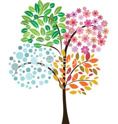 Find Colorful Tree Four Seasons Vector Icon stock images in HD and millions of other royalty-free stock photos, illustrations and vectors in the Shutterstock collection. Four Seasons Painting, Four Seasons Art, Drawing For Kids, Art For Kids, Tree Clipart, Tree Illustration, Colorful Trees, Button Art, Tree Art