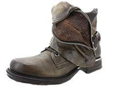 #bottines #as98 - airstep 717253 kaki, chaussures f femme airstep - as98 c54airstep010