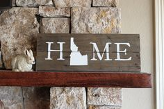 Could make with small piece of barnwood - use state symbol