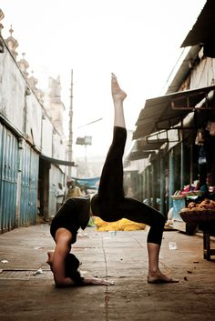 yoga in the streets of India